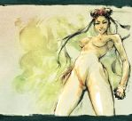 Naked Chunli by scabrouspencil