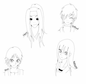Headshots of my OCs by xXNejiten4everXx