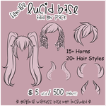 Lucid Add On Pack - Hair and Horns by Omega-Fluff