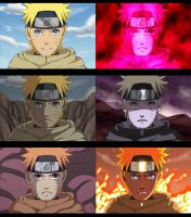 The many faces of Naruto by Yurusen