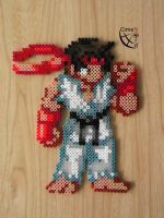 CSW Ryu STF Perler Beads by Cimenord