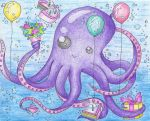 Octopus Birthday Card by Soldier7285