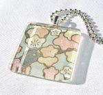 Blossoms tile glass pendant 2 by inchworm