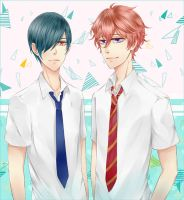 Ikuya and Kisumi! by hossico