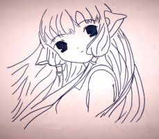 Really old Chii drawing by LiliQuant