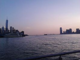 Hudson River with Skylines by SirDNA109