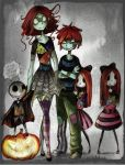 The children of Halloween Colourtest by HorrorPillow
