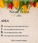 Aika's Name Poem by FoxyPirate56912