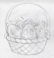 Basket O' Eggs by MegShrk