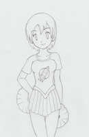 Brielle Coeur - Cheerleader - REQ (Sketch) by Michael2007V2
