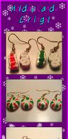 Holiday Candy Earrings by querulousArtisan