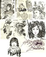 pageful of sketches by git2