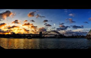 Sydney Harbour Bridge Sunset by beca88