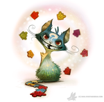 Daily Painting #914 - Cheshire Cat by Cryptid-Creations