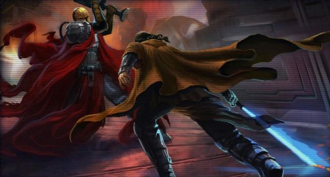 Mandalore the Ultimate Vs Revan by thepalehorsman234