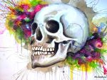 Hopeful Skull by MsSophieArt
