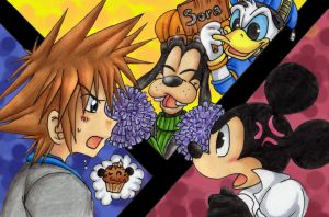 Superclash-Sora vs King Mickey by Jack-a-Lynn