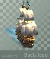 Galleon - Dock Icon by ssx