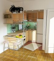 Summer House Compact Kitchen by theanarchitect