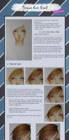 Copic Ciao tutorial Brown hair braid in English by maxicarry