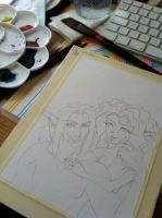 WIP Watercolor by FawnGoggler