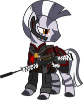 Fallout Mod Submission: Zebra Soldier by Brisineo