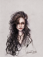 Bellatrix Lestrange - Quick Sketch by Emmanuel-Oquendo