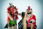 Batman Villains - Poison Ivy and Harley Quinn by CherryMemories