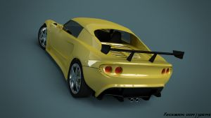 Lotus Elise back view by aXel-Redfield