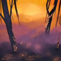Forest Fire aftermath speedpaint by FicusArt