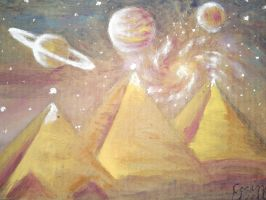 2012 - Theplanets and the Giza  pyramids by CORinAZONe