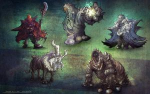 some creature/character concepts by xpe