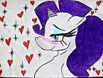 Rarity i drew and colour edited on the computer by Ninjabear15