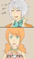 I like your smile by Athena-Sazuki
