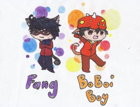 Chibi Fang And Boboiboy by RAM2Awsome