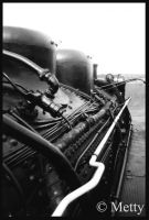 Old train engine by Metty