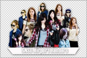 SNSD Airport Renders by ryeddh20