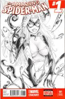 Black Cat Venom sketchcover by alfred183
