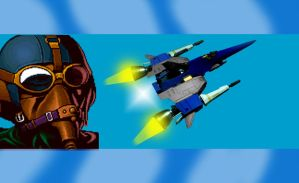 J. Wayne as Blue Javelin Pilot by arya74