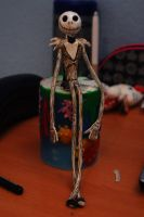 Jack Skellington made out of white tack :) by NatalieBorg