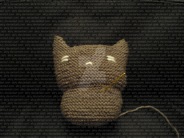 Knitted Cat - the final thing by AKRY
