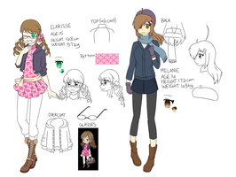 OC Ref: Clarisse and Melanie by Kyoukouo