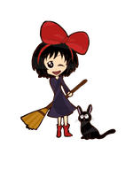 AT : Kiki and Jiji by happy-loner