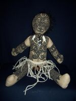 Maori Moko Doll- Front by bataleigh