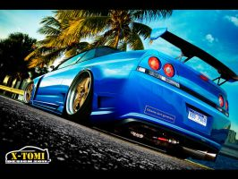 Nissan Skyline R33 by x-tomi