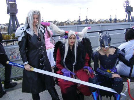 Sephiroth, Ultimecia and Kain by JenovaBoi