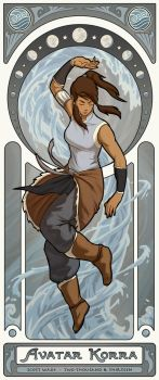 Avatar Korra - Art Nouveau Avatars by swadeart