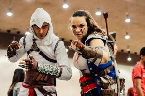 Altair and Connor cosplay by KynnBF