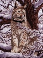 Cross Stitch Siberian Lynx by phoenixstars