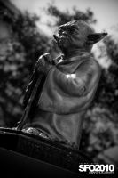 Yoda fountain at ILM II by massivefocus